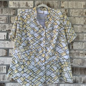 Alfred Dunner printed blouse size 16W